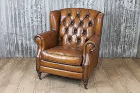 Armchair Leather Vintage Style Armchair In Leather The Berkeley