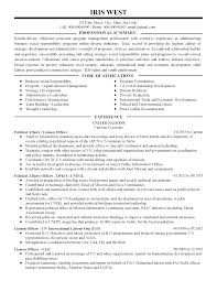 resume summary statements about experiences professional political affairs liaison officer templates to