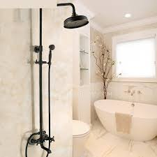 black faucets black oil rubbed bronze cross handle exposed shower faucets system