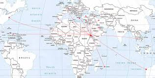 Spain On World Map by Kagnew Station Circuit Call Signs