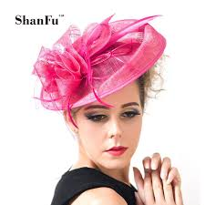 fascinators hair accessories shanfu large feather fascinators sinamay hats vintage women