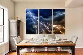 3 piece wall decor thunderstorm multi panel canvas blue canvas