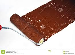 brown paint brown paint roller stock photo image of redecorate repair 15689580
