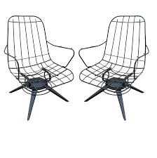 Wire Patio Chairs by Homecrest Mid Century Wire Lounge Chairs A Pair Chairish