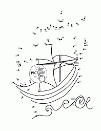 ship dot to dot coloring pages for kids connect the dots