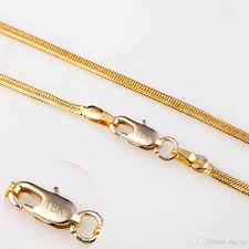 necklace design with price images Wholesale wholesale 2mm snake chain necklace for jewelry diy 18k jpg