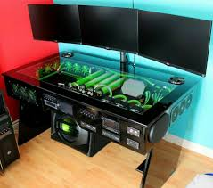 gaming desk ideas offices gaming computer and desk ideas on pinterest gamer pics