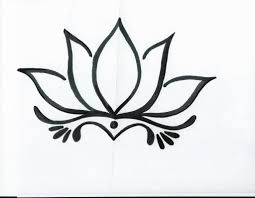 simple lotus drawing drawing art gallery