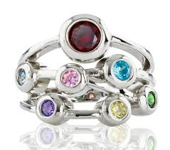 mothers ring 7 stones rings mothers rings nana sterling silver s ring