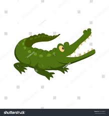 alligator crocodile green icon vector image stock vector 322200683
