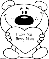 love coloring pages teddy bear printable love