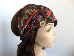 asian headband japanese tapestry headband women s wrap asian flower garden