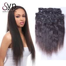 human hair clip in extensions human real hair clip in extensions yaki