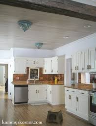 kammy u0027s korner whitewash paneled kitchen ceiling restoring the