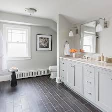 grey bathroom linen cabinet design ideas