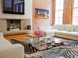 decor modern showcase designs for living room and brick accent