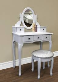 Small Makeup Desk White Vanity Table Set Jewelry Armoire Makeup Desk Bench Drawer