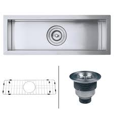 Narrow Kitchen Sink Ruvati Undermount Stainless Steel 23 In W 16 Narrow Bar