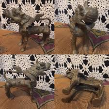 lion foo dog vintage nepalese bronze or brass guardian lion foo dog protector