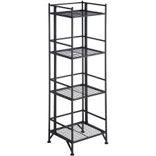 convenience concepts designs2go metal folding 4 shelf bookcase