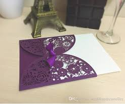 purple wedding invitations 2016 new purple wedding invitations laser cut customizable hollow
