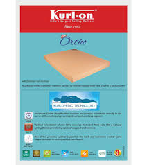 Cheap Single Bed Mattress India Kurl On New Ortho 5 Inch Single Size Coir Mattress 72x36x5 Buy