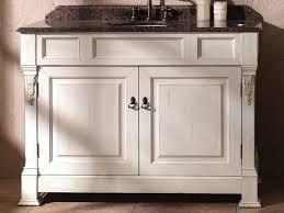 bathroom furniture hickory wood chrome freestanding metal
