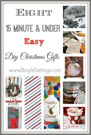 eight 15 minute and under easy diy christmas gifts the bright