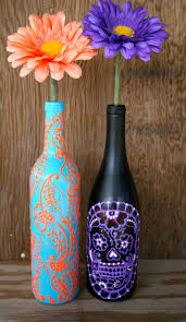 how to decorate vases sometimes restaurants keep their old wine bottles to give to