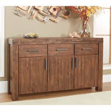Wood Furniture Door Modus Meadow 3 Door 3 Drawer Solid Wood Sideboard Brick Brown