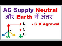 in hindi ac supply neutral and earth difference youtube