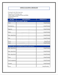 common cover letter checklist commercial cleaning checklist