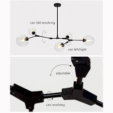 Black Glass Pendant Light by Glass Pendant Light Bar Led Ceiling Lights Black Chandelier