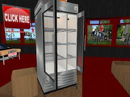 Small Commercial Refrigerator Glass Door by Second Life Marketplace Chefs House Commercial Refer
