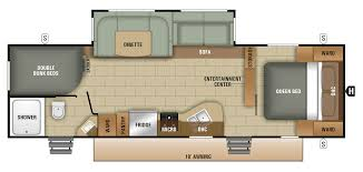 triple bunk travel trailer floor plans bunkhouses starcraft rv