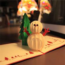 3d laser cut handmade christmas tree snowman paper invitation