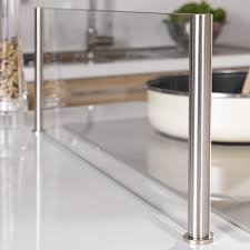 plaque en verre pour cuisine ecran anti projection en verre lapeyre écran et verre