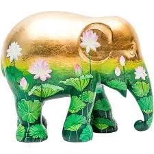 asian elephant ring holder images Solo golden lotus elephant parade 30cm jpg