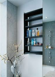 bathroom wall shelves ideas sliding bathroom storage unit in a wall crab by omvivo