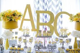 yellow and gray baby shower decorations kara s party ideas yellow gray alphabet baby shower gender