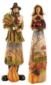 thanksgiving pilgrim figurines thanksgiving