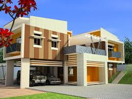 nice elegant design of the exterior paint color for modern house