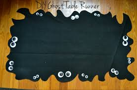 halloween table cover home craft diy halloween ghost table runner