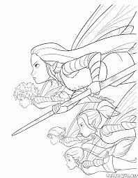 coloring page attack by fairy scouts