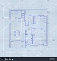 Floor Plan Blueprint House Plan Blueprint Vector Stock Vector 78972715 Shutterstock