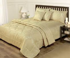 king size duvet cover throw set 6 jacquard gold bed set