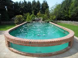 Backyard Landscaping With Pool by Awesome Above Ground Outdoor Pool 10 Pics Ground Pools Pool