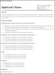 word document resume template free sle resume in word format buckey us