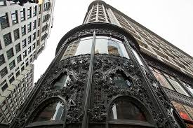 photo ornamental work on sullivan center in chicago