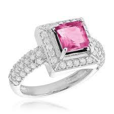 topaz engagement ring rings halo topaz diamond engagement ring 0 68ct 14k gold